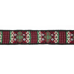 "Jacquard Ribbon 1 1/16"" Fair Isle Style Woven 4 Yards"
