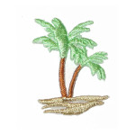 Iron On Patch Applique - Palm Tree Right