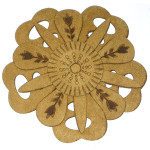 Iron On Patch Applique - Laser Cut Layered Flower