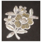 Iron On Patch Applique - Flower Spray Beaded