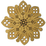 Iron On Patch Applique - Laser Cut Layered Flower 7687