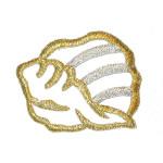Iron On Patch Applique - Metallic Shell.,