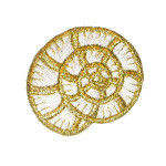 Iron On Patch Applique - Metallic Shell.a