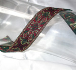 "Jacquard Ribbon 1"" Wine Hunter & Met Gold"