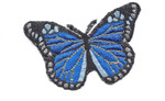 """Iron On Patch Applique - Butterfly 3 1/8"""" Royal Monarch"""