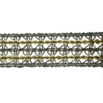 "Braid 1 1/4"" Black Metallic Gold Fine Double Row"