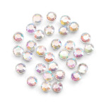 Glass Rhinestones 5mm Hot Fix Color Crystal AB 400 pieces