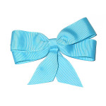 """Ribbon Bow 4"""" Turquoise - 5 Pack"""