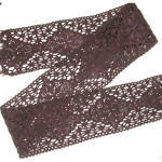 "Cluny Lace - 2 1/4"" Brown 6 Yards"
