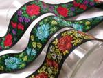 "Jacquard Ribbon 1 13/16"" Roses *Colors* Priced Per Yard"