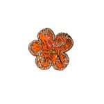 Iron On Patch Applique - Brocade Flower with Beads