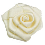 "Ribbon Rose Flat  1 1/2"" 10 Pack - IVORY"
