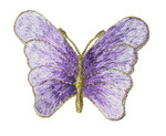"""Iron On Patch Applique - Graduating Color Butterfly 2 1/2""""  Llilac"""