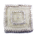 Iron On Patch Applique - Glass Beaded square panel