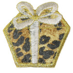 Iron On Patch Applique - Leopard Gift Box