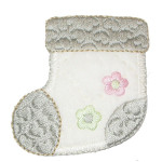 Iron On Patch Applique - Stocking Beige