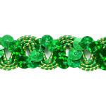 "Sequin Metalic Braid 5/8"" Emerald 5 Yards"