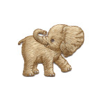 Iron On Patch Applique - Elephant B