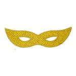 Iron On Patch Applique - Sparkle Mardi Gras Mask Yellow