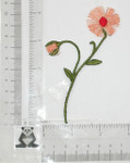 Iron On Patch Applique - Thread Flower Spray Peach