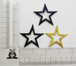 """Iron On Patch Applique - Open Star 1 7/8"""" (47.62mm) *Colors*"""