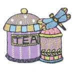 Iron On Patch Applique - Kitchen Canisters