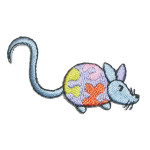 Iron On Patch Applique - Blue Mouse Right