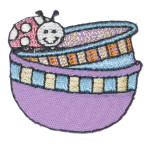 Iron On Patch Applique - Mixing Bowls