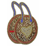 Iron On Patch Applique -  Faux Snakeskin Bag