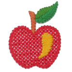 Iron On Patch Applique - Cross Stitch Apple