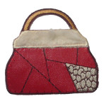 Iron On Patch Applique - Red Handbag