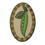Iron On Patch Applique - Country Pea Pod Patch