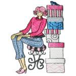 Iron On Patch Applique - Shoe Shopping Lady Medium
