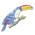 Iron On Patch Applique - Blue Toucan