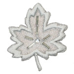 Iron On Patch Applique - Beaded Leaf