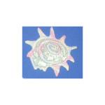 Iron On Patch Applique - Pastel Sparkle Sea Shell