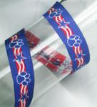 "Jacquard Ribbon 1"" Patriotic Paws"