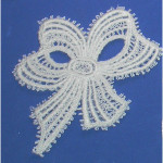 Iron On Venise Lace Applique - Bow