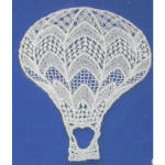 Iron On Venise Lace Applique - Hot Air Balloon