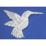 Iron On Venise Lace Applique - Hummingbird