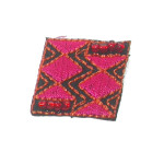 Iron On Patch Applique - Beaded Diamond Patch