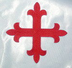 "Iron On Patch Applique - Equal Cross Large 5 5/8"" x 5 5/8"" Red"