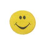 Iron On Patch Applique - Smiley Face 2""