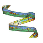 "Jacquard Ribbon 1"" Dog Agility  Green & Blue"