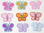 "Iron On Patch Applique - Butterfly 1 3/8"" Dandy Dots *Colors*"
