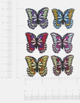"Iron On Patch Appliques - Butterfly Azzi 1 1/4"" *Colors*"
