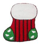 Iron On Patch Applique - Christmas Stocking Stripey