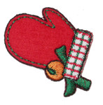 Iron On Patch Applique - Christmas Mitten