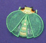 Iron On Patch Applique - Lady Bug Layered Dark Green