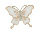 """Iron On Patch Applique - Butterfly 2 1/4"""" Sheer Wing  Peach"""
